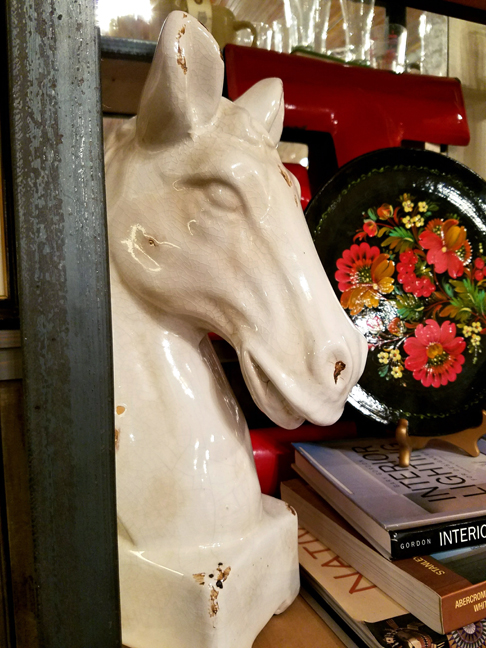 Horsehead with Books