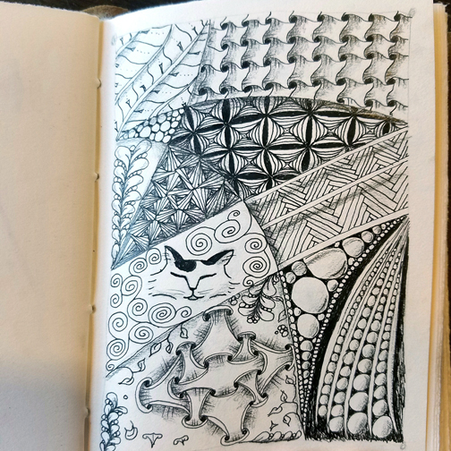 A recent drawing (Zentangle Inspired Art)