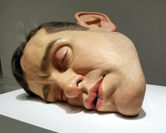 The face of the exhibit - literally. This is a mask of the artist's face.