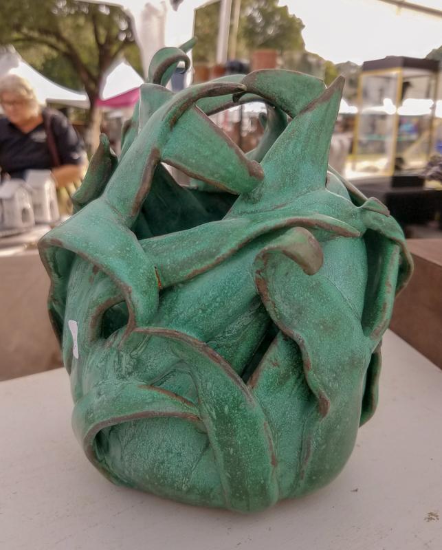 Ceramic Leafy Vase