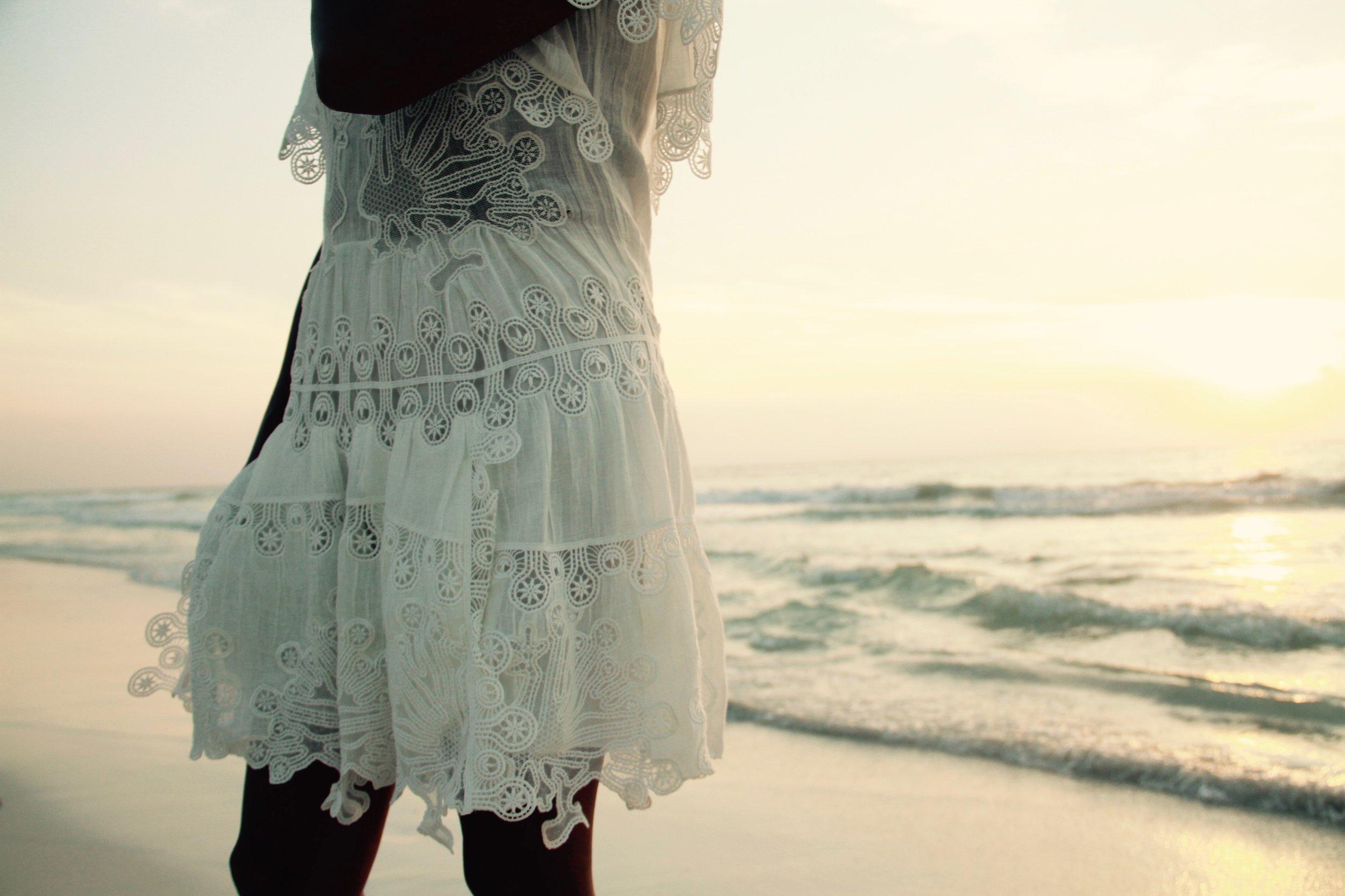 Tulum sunrise. Dress by Chloé