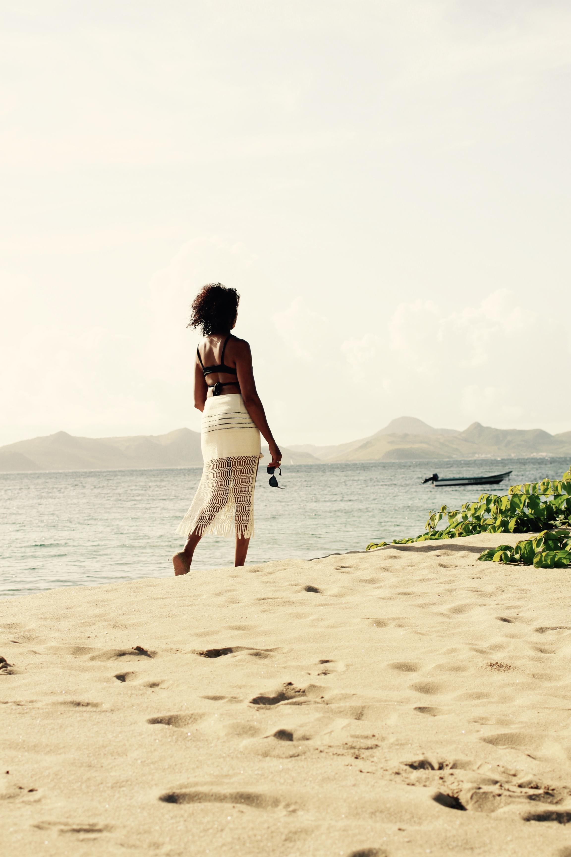 Pinney's beach. Skirt by Jaline Resort