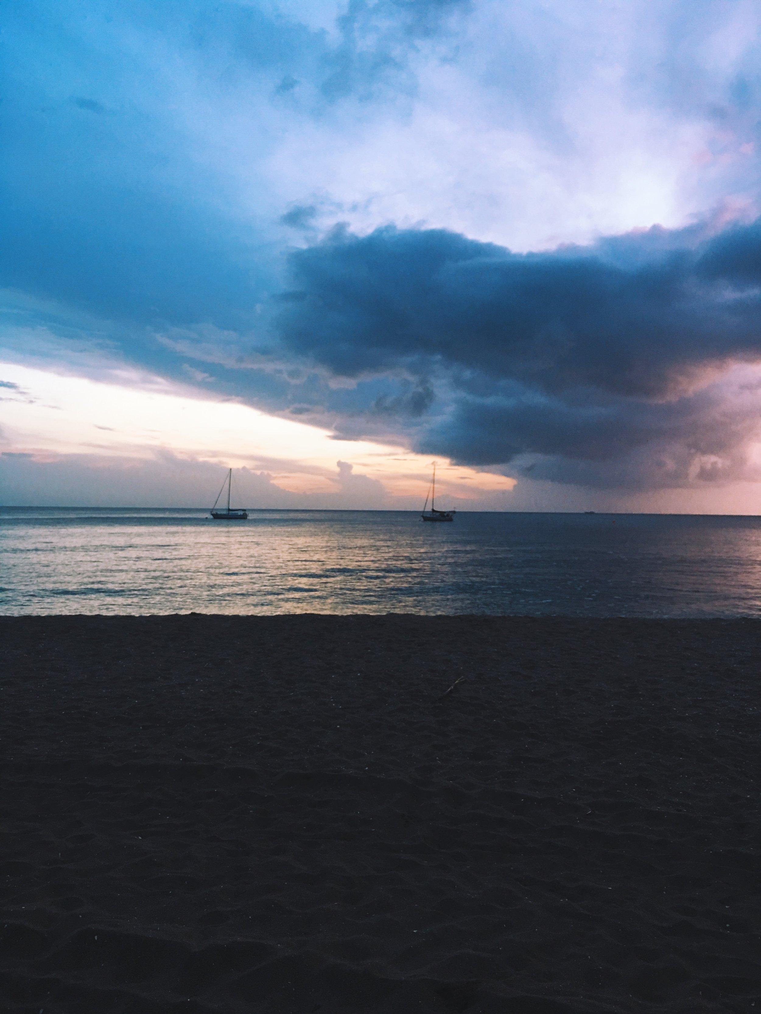Sunset on Pinneys Beach