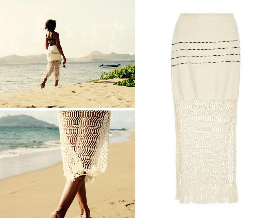 Pinneys Beach, Nevis.  Skirt by Jaline Resort