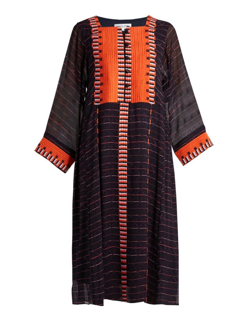 Apiece Apart Las Casas embroidered silk dress