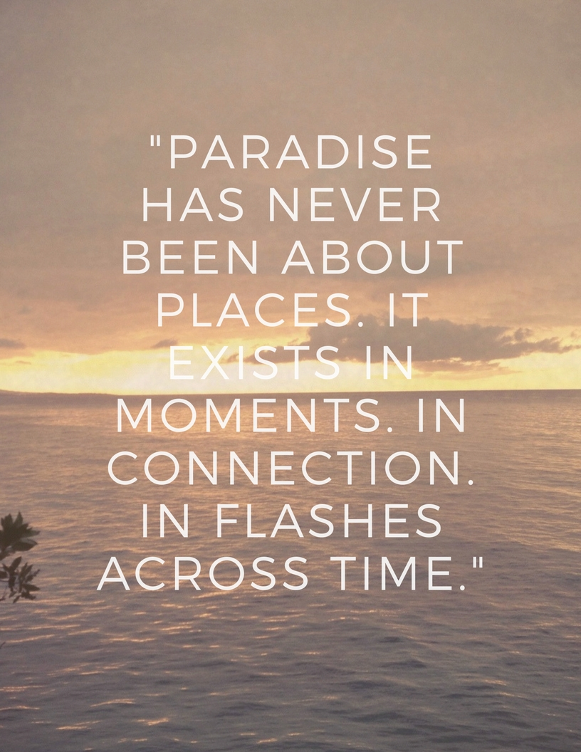 Sunset at Jamaica Inn /  Paradise quote by Victoria Erickson
