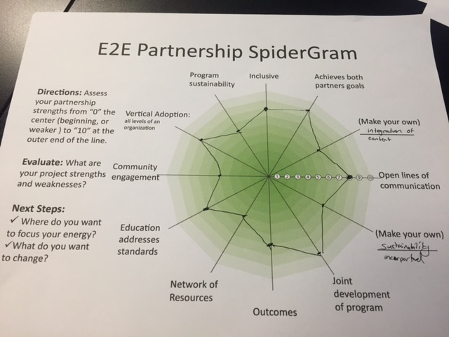A Spidergram offers a snapshot of complex project components