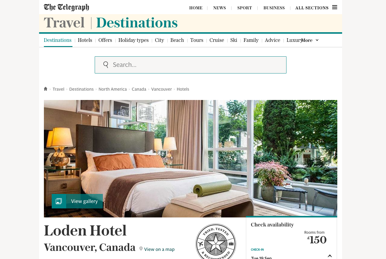 Loden Hotel - The Telegraph
