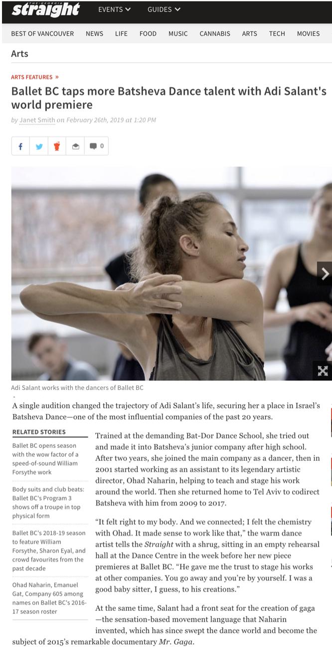 Ballet BC - Georgia Straight