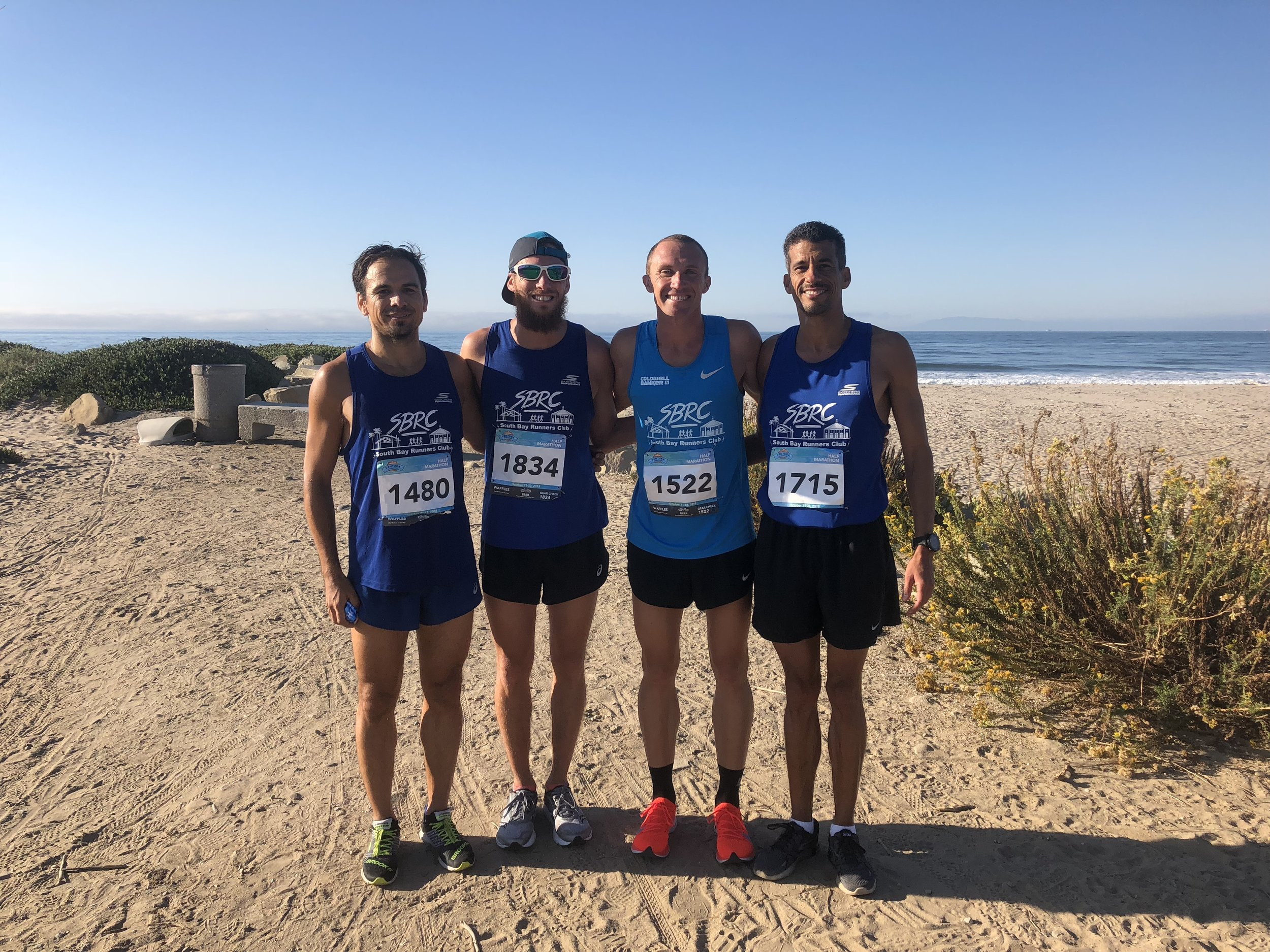 SBRC Team Win - Top 5 guys finished under 1:20 with lots of PR'sAlex(not pictured)- 1:10:37, Rick- 1:16:35, Ismael Henrandez- 1:18:03, Zalmi Orimland- 1:19:19