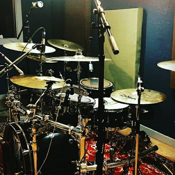 Doin work with @devilsenvy! -  Drum tracking with our favorite producers at @tonedistillery 🙌🎼💯 • Hope you're ready for these bomb tracks! 🔥 • • • #devilsenvy #tonedistilery #recordingstudio #drums #dwdrums #producers #engineers #rock #music #astonmics #slatedigital #uaudio #sennheiser #zildjiancymbals #repost