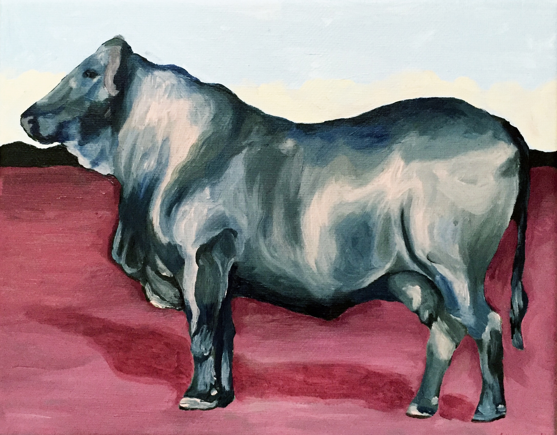 Bull. 2016, Acrylic on canvas