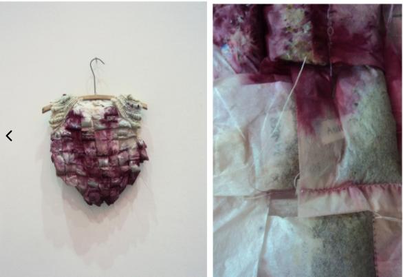 Amor. 2011, Tea Bags, paper, wool