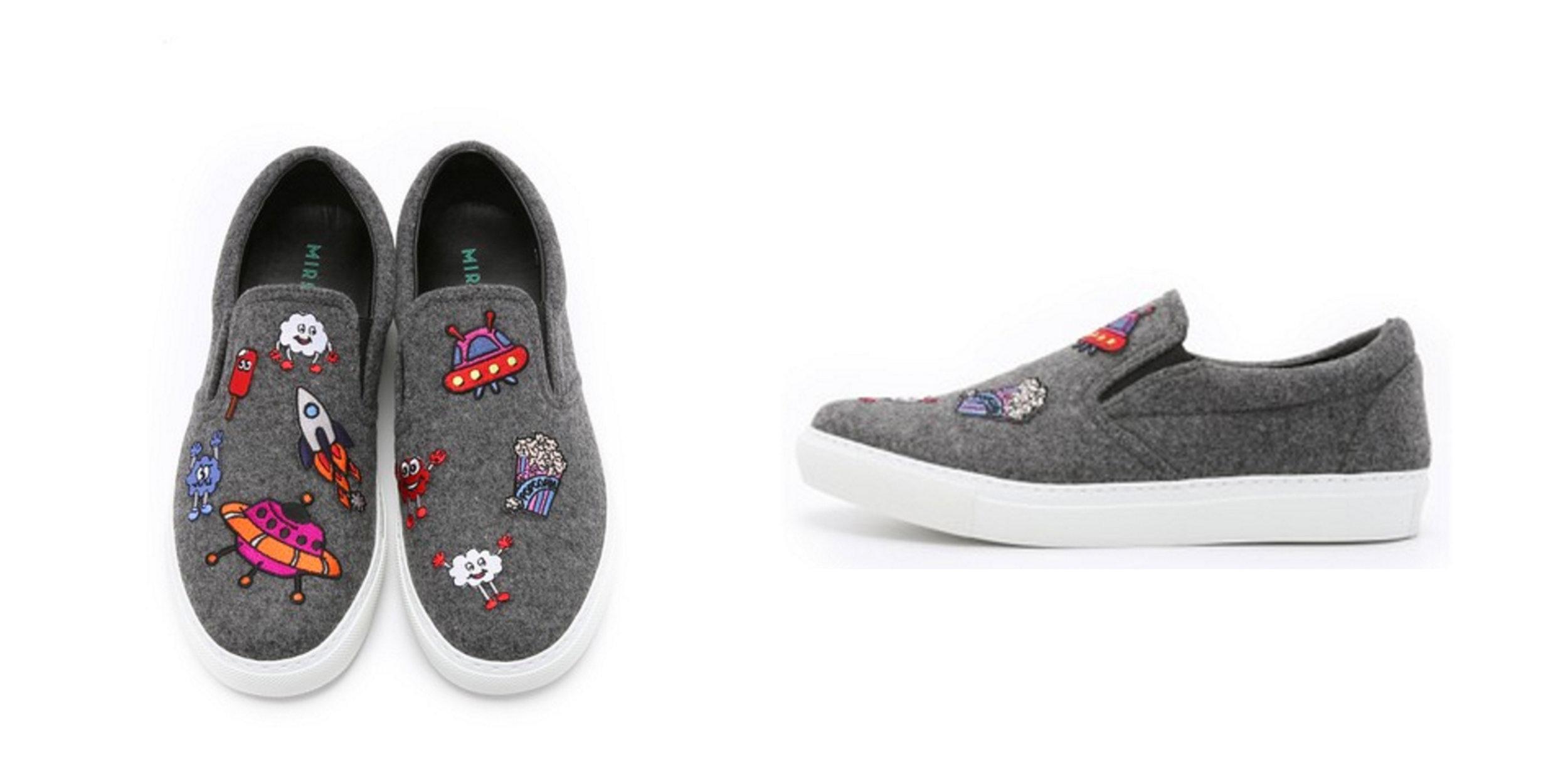SPLURGE: Wool Slip On Sneakers, Mira Mikati , $660