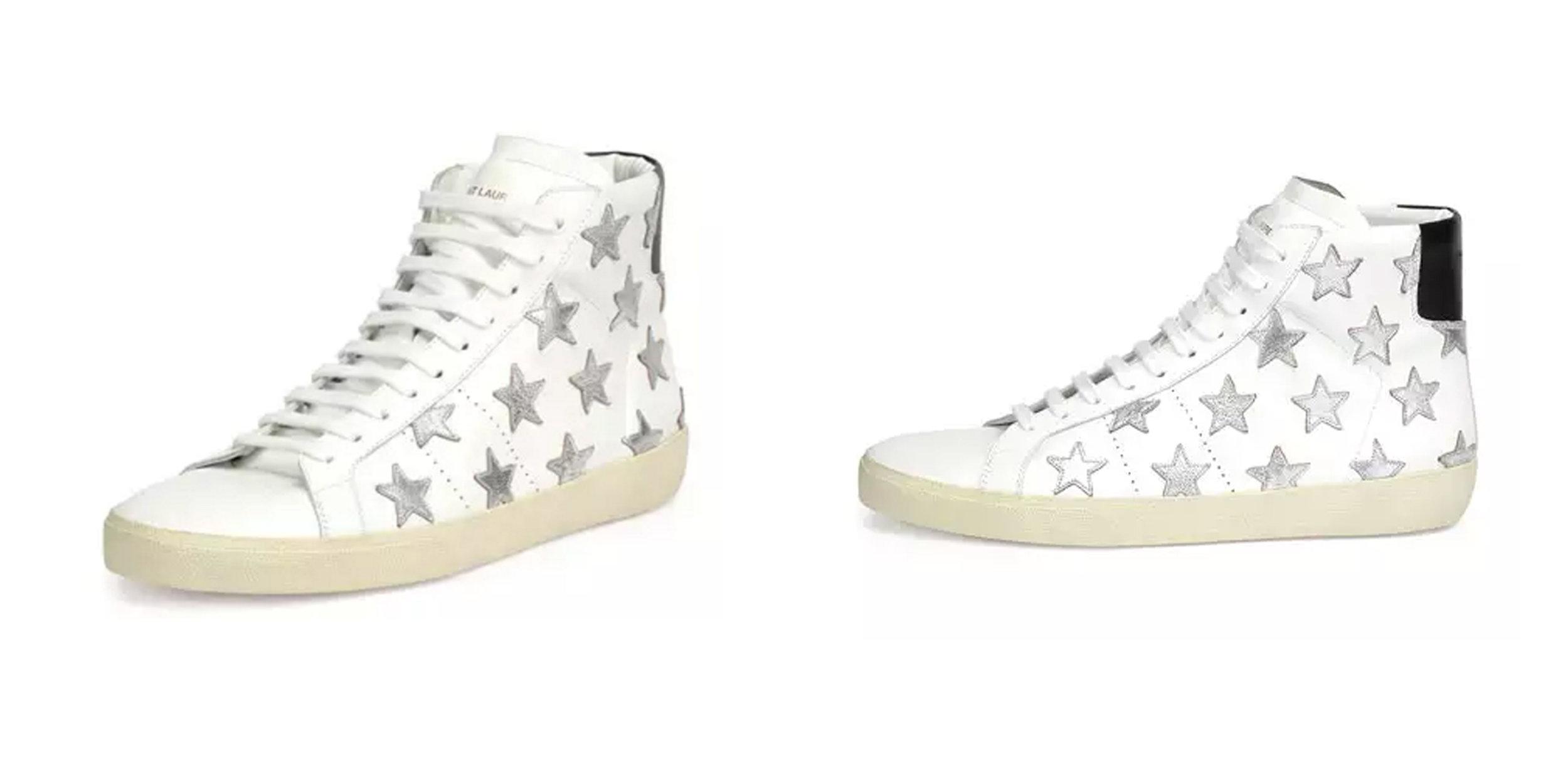SPLURGE: High Top Sneakers,  Saint Laurent , $695