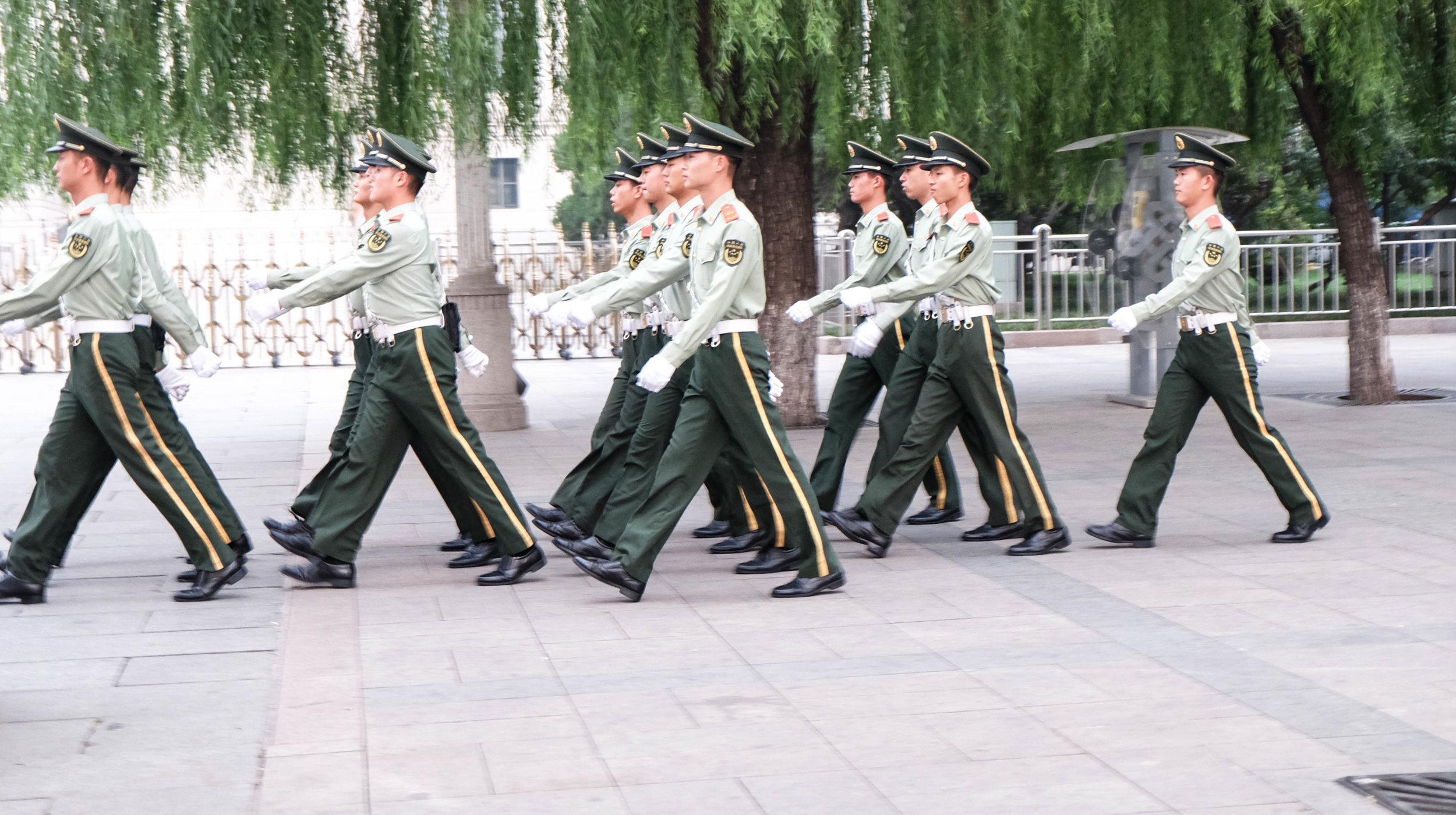 Leaving Tiananmen Square.