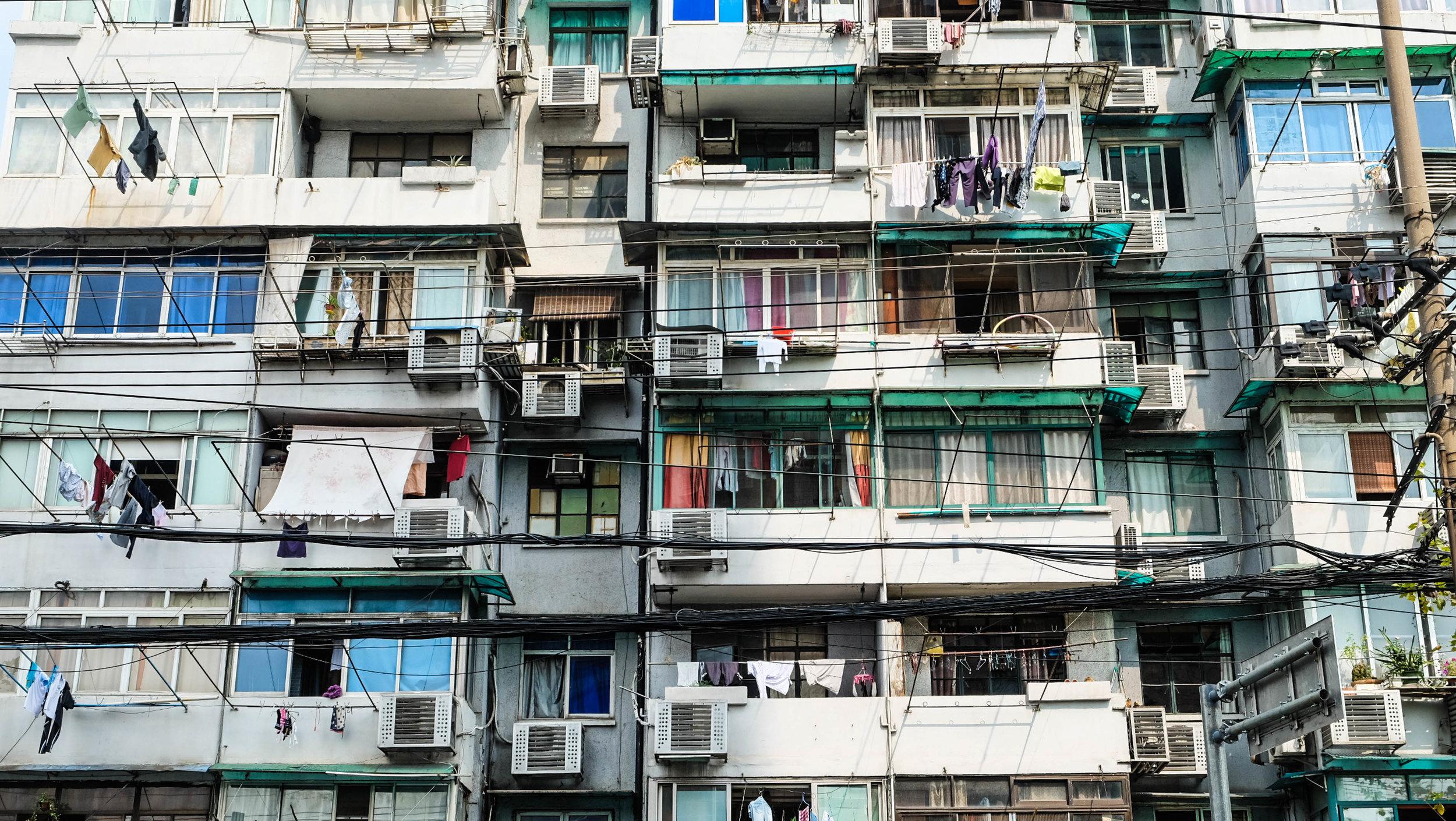 Shanghai's residential area outside of the city center.