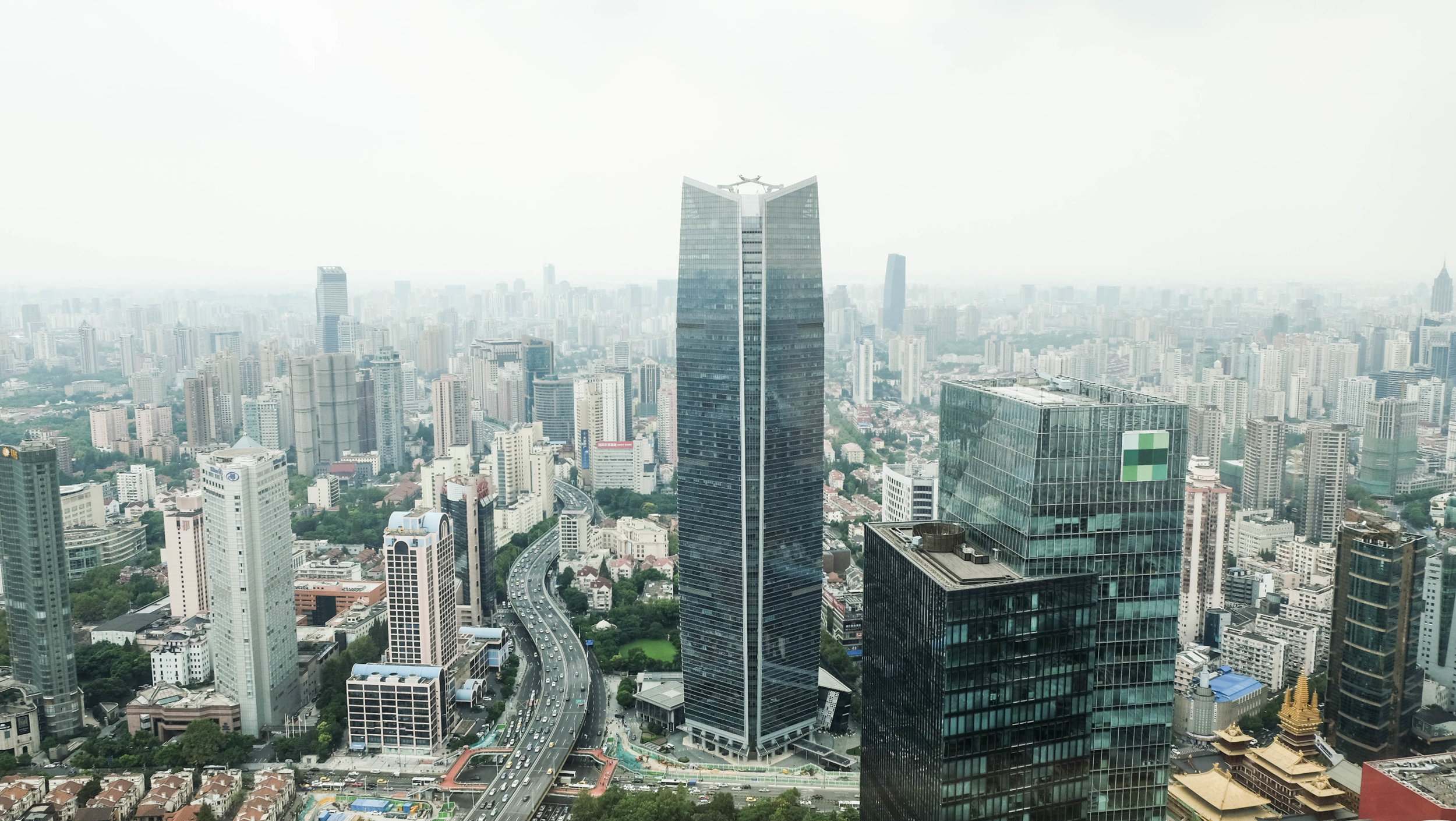 Shanghai's city center.