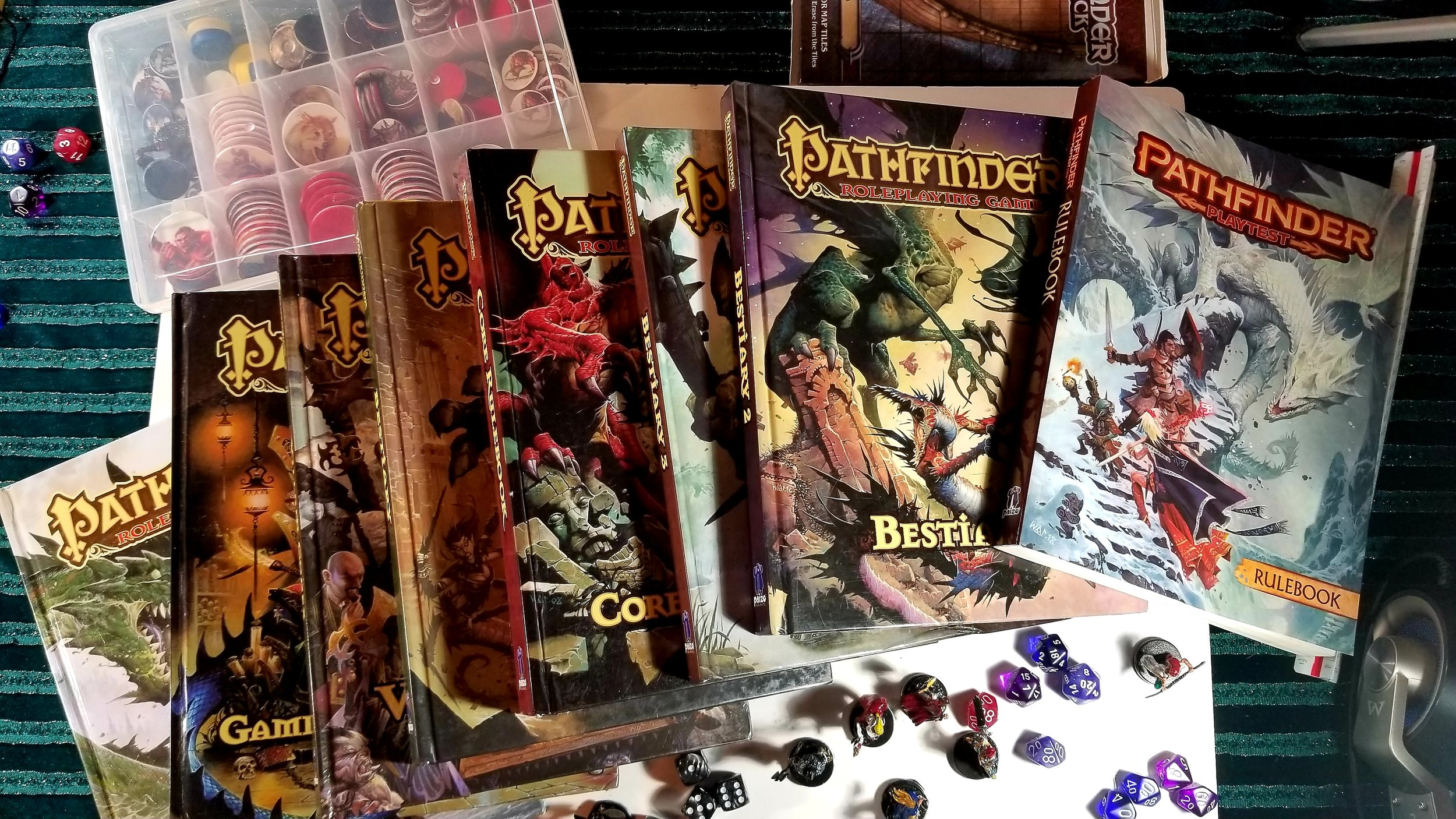 Pathfinder 1st Edition - Books are classics.