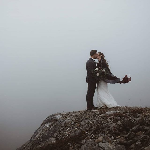 Eternally grateful for fog on wedding days 🙌🙌 These two planned for vehicles to take us up to the top of Marble Mountain - and this is what we found up there! I think I actually screamed i was so excited. It was totally clear halfway down the mountainso we super duper lucked out both ways 🎉🙏 . . . . . . . . . #newfoundlandwedding #newfoundlandweddingphotographer #newfoundlandelopementphotographer #newfoundlandelopement #elopementphotographer #elopement #dirtybootsandmessyhair #wildhairandhappyhearts #wildwedding #intimatewedding #documentaryphotography #documentaryweddingphotography #loveandwildhearts #loveauthentically #brideandgroom #thewildbride #newfoundlandweddings #eastcoastwedding #foggywedding. .  #cornerbrook #marblemountain