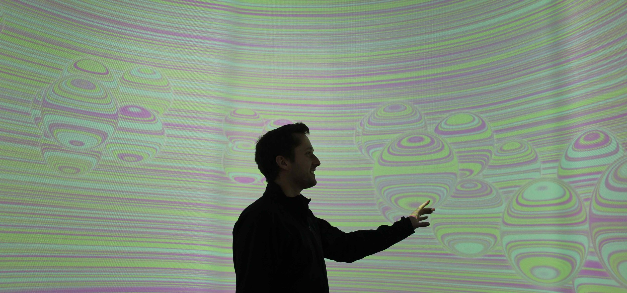Radiant Matter is an immersive space that allows visitors to explore the historical ideas about atomic structure - from Democritus to the dawn of quantum physics. Produced by Esem Project in collaboration with Code on Canvas and Tactile Music.