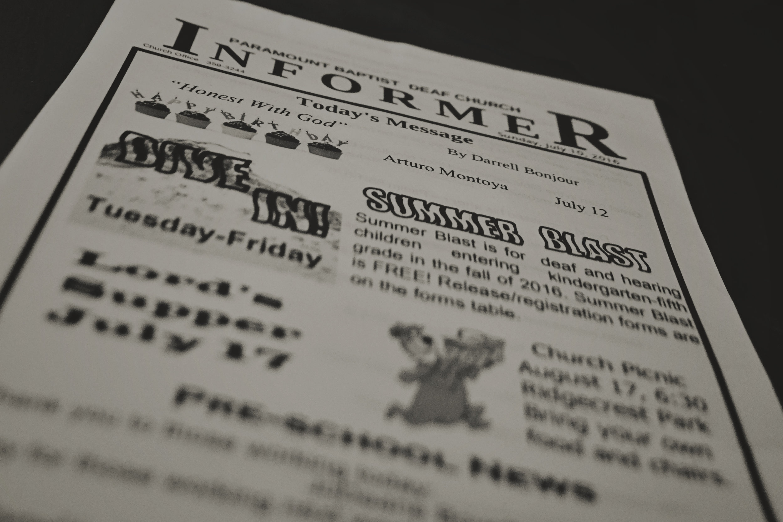 download Informer & Sermon Notes -