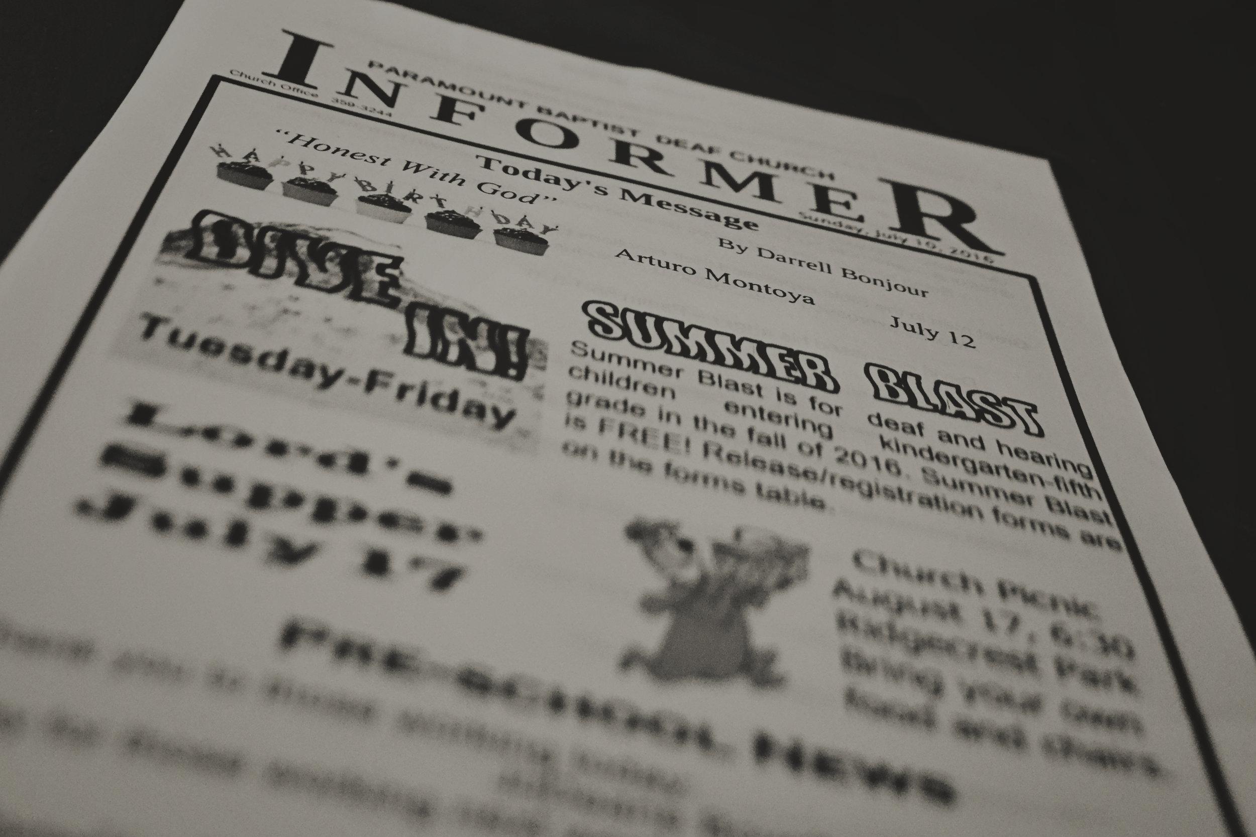 download Informer & Sermon Notes -