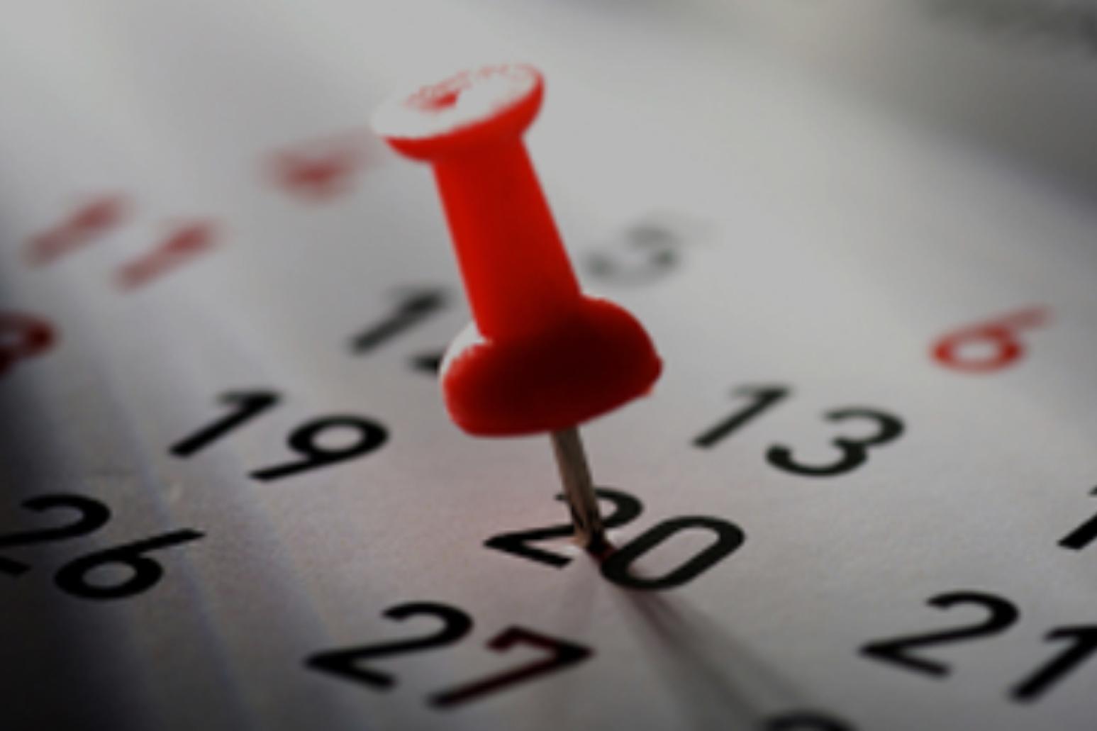 ViewCalendar of events -