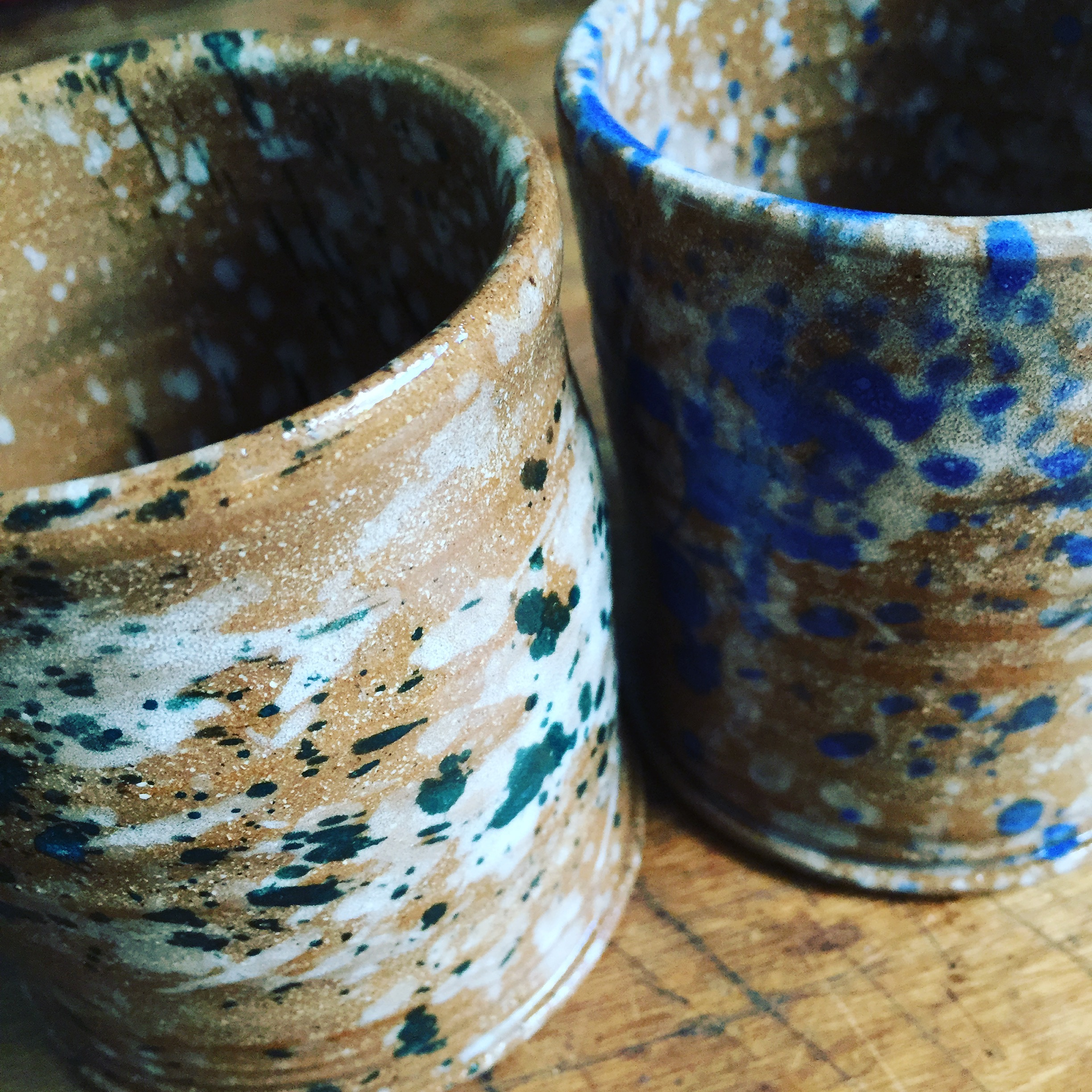 speckled tumblers unfired