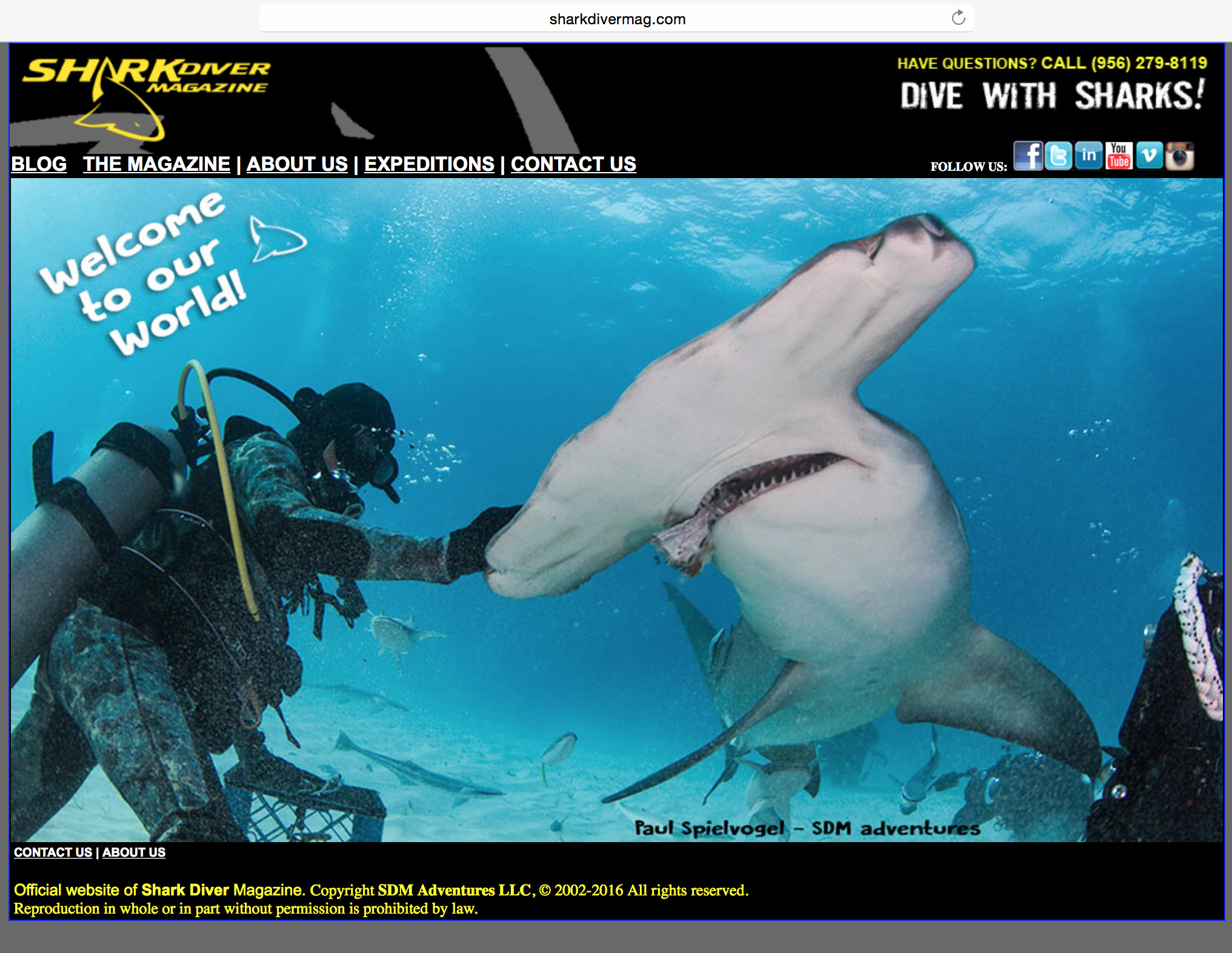 current site on SharkDiverMag.com