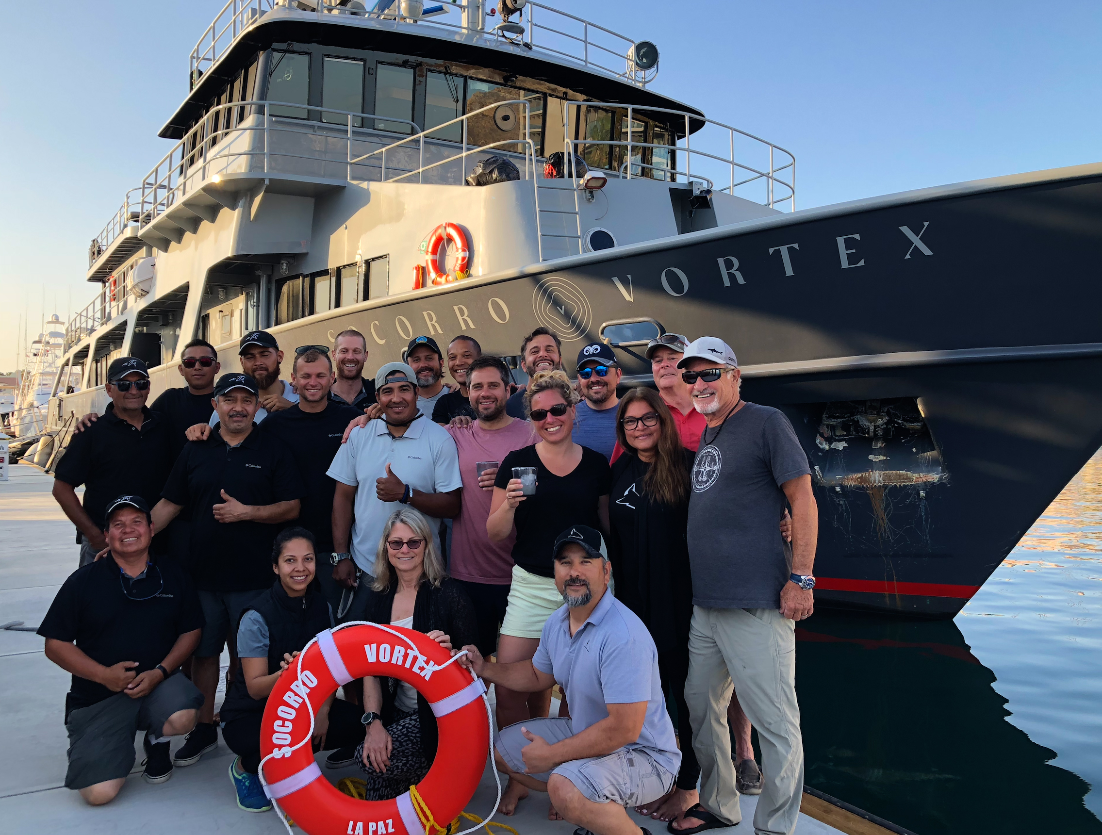 With the group of dive crazies that joined us on this adventure and the amazing crew of the Vortex. Truly enjoyed our time together my friends. Hope to share adventures with you guys again very soon.  Big hug!