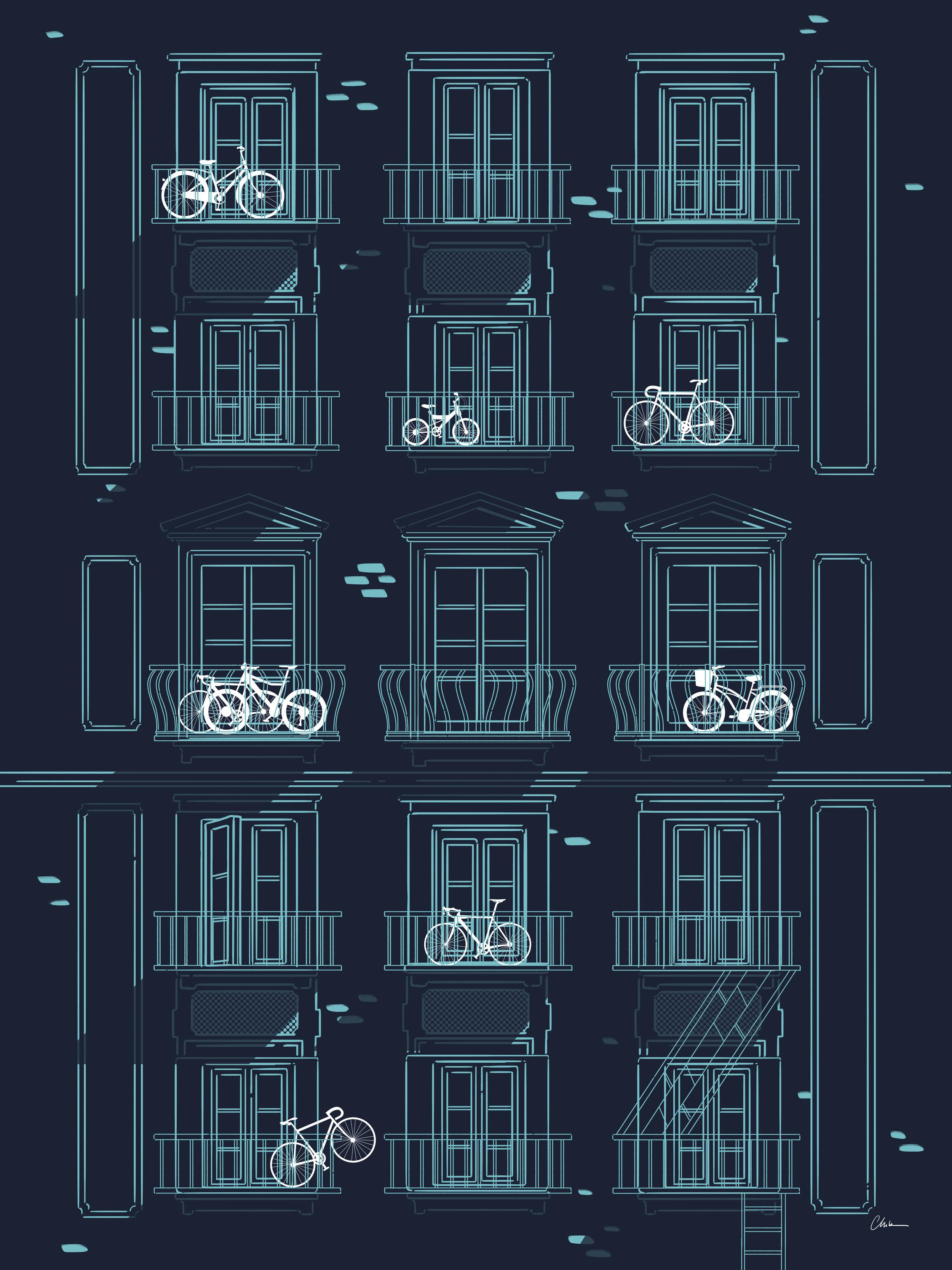 Art Crank | Bikes on Balconies