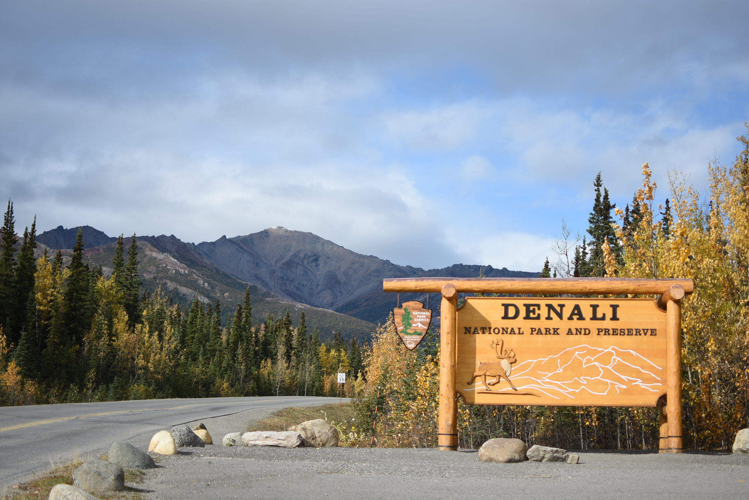 The stunning entrance to Denali National Park.