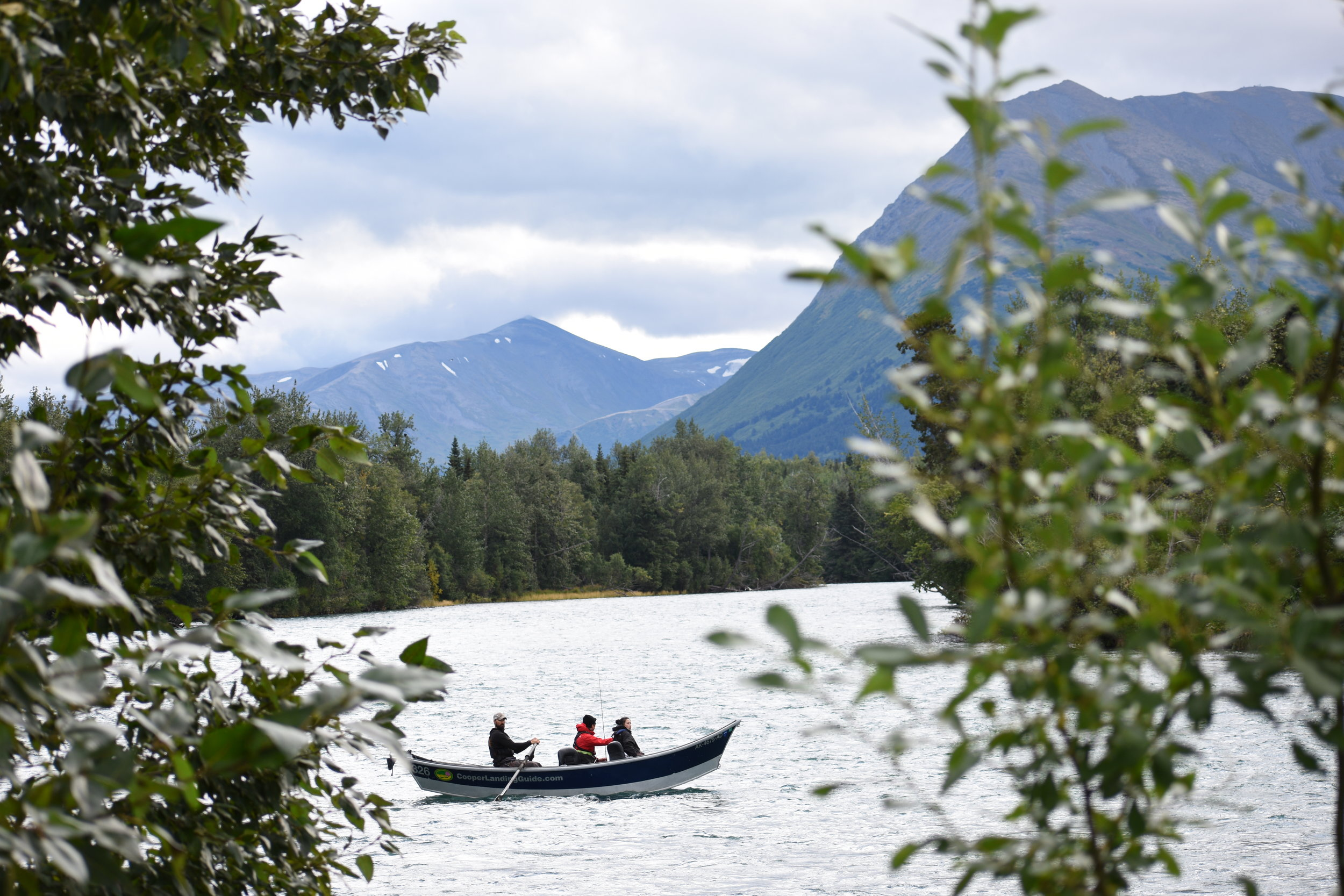 Drifting to the boat ramp after a great day on the    Upper Kenai   !