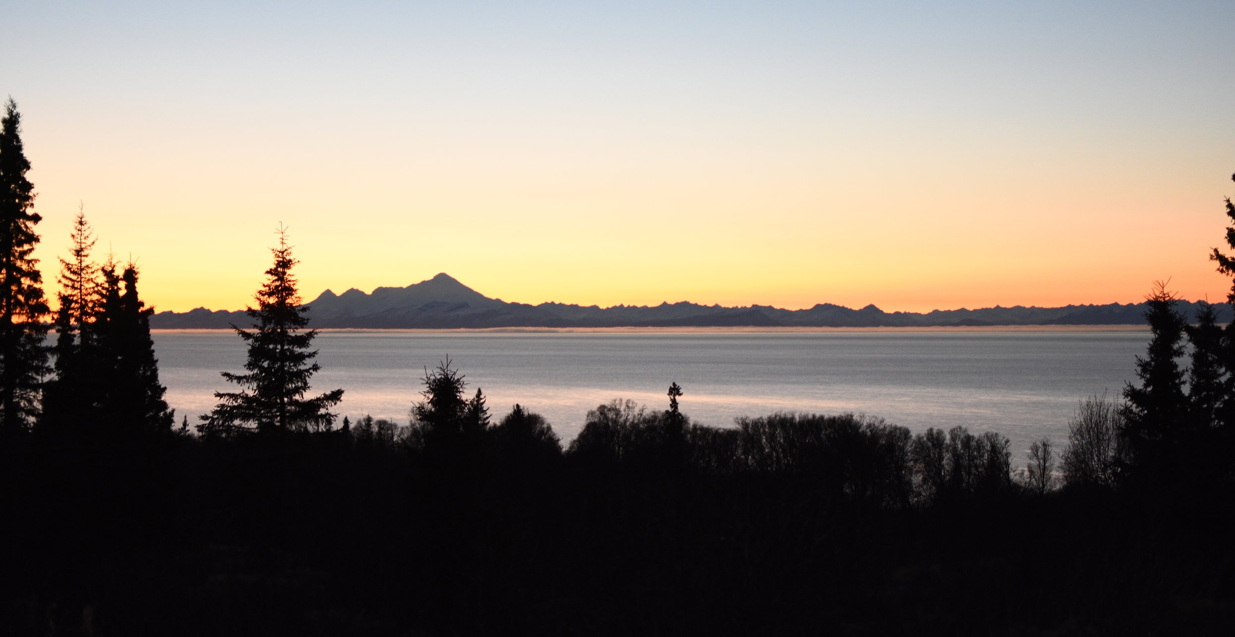 A view across the Cook Inlet as we traveled down the Sterling Highway on our way to Homer.