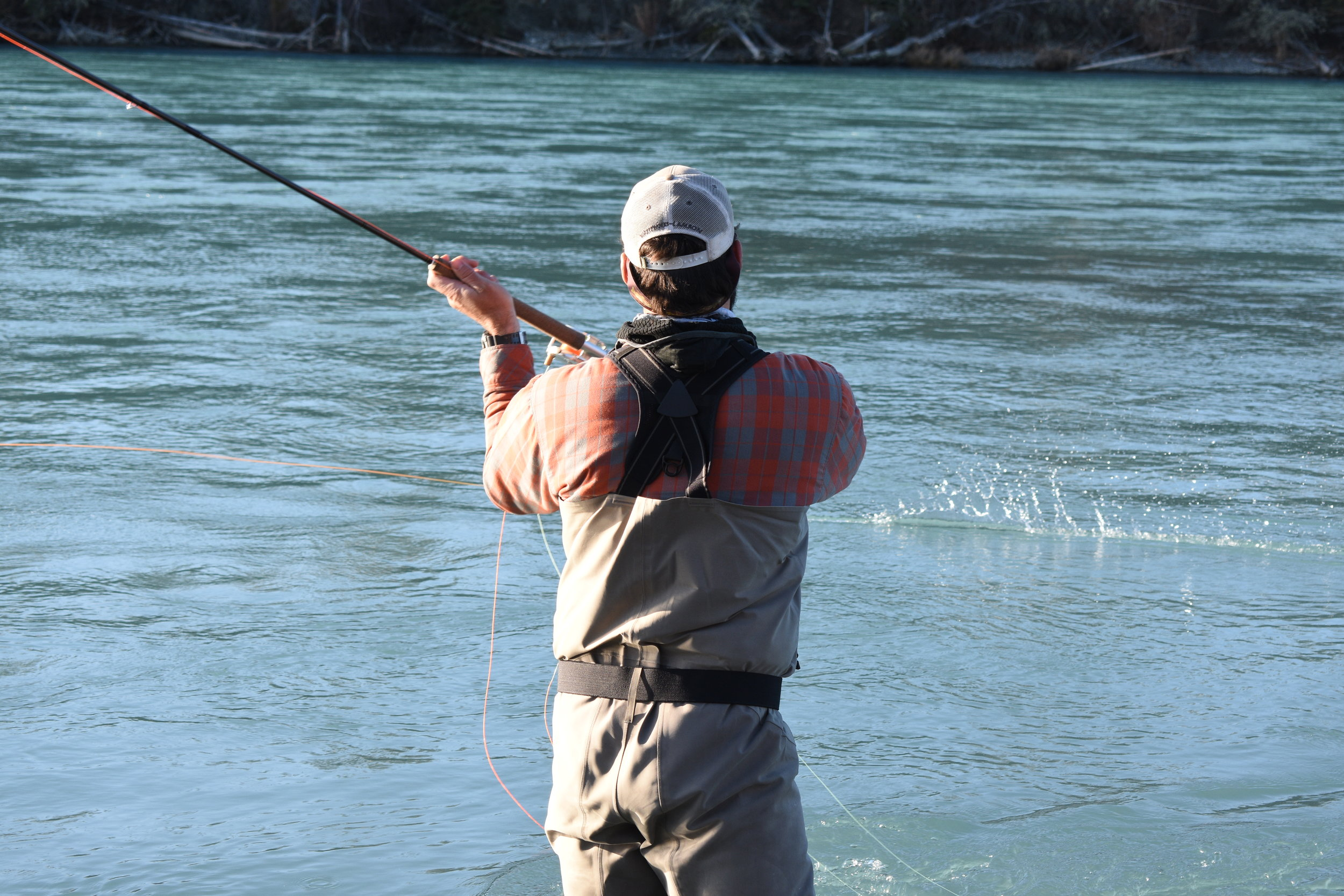 An afternoon spent Spey Casting on the    Middle Kenai River    for    Rainbow Trout    and    Silver Salmon   .