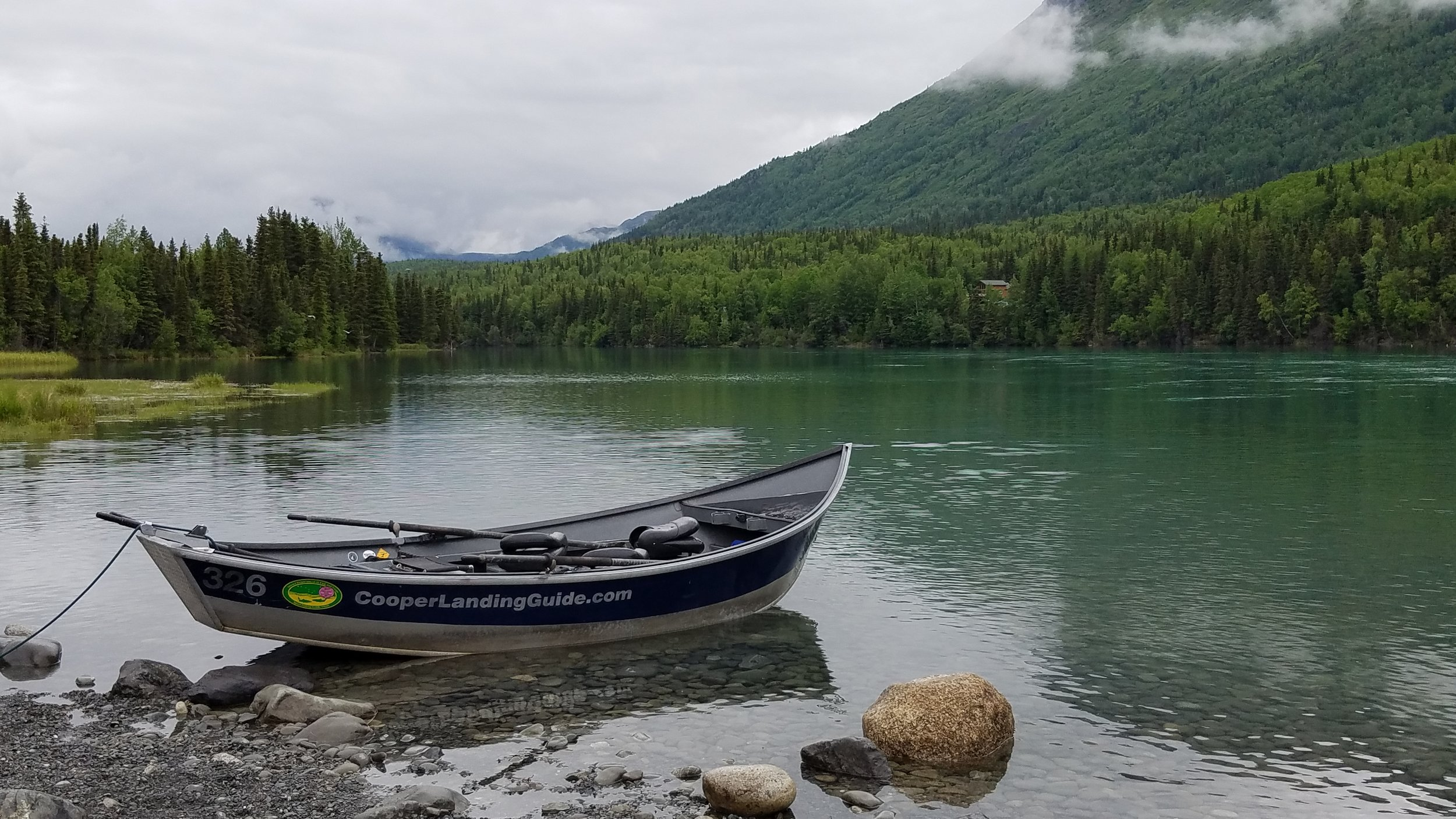 The boat launch in    Cooper Landing    at the very beginning of the    Kenai River   . The    upper Kenai River    winds through a stunning mountain setting with    world-class fishing    and ample wildlife viewing opportunities.