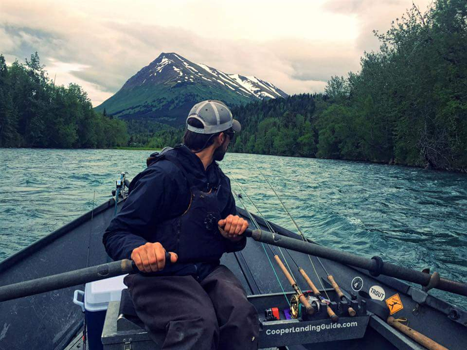 The view back up river is often just as stunning as the views headed down the    Kenai River   .