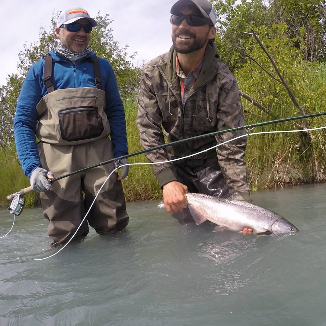 Kenneth proved that you don't have to have much experience swinging for    King Salmon    to hook multiple fish!