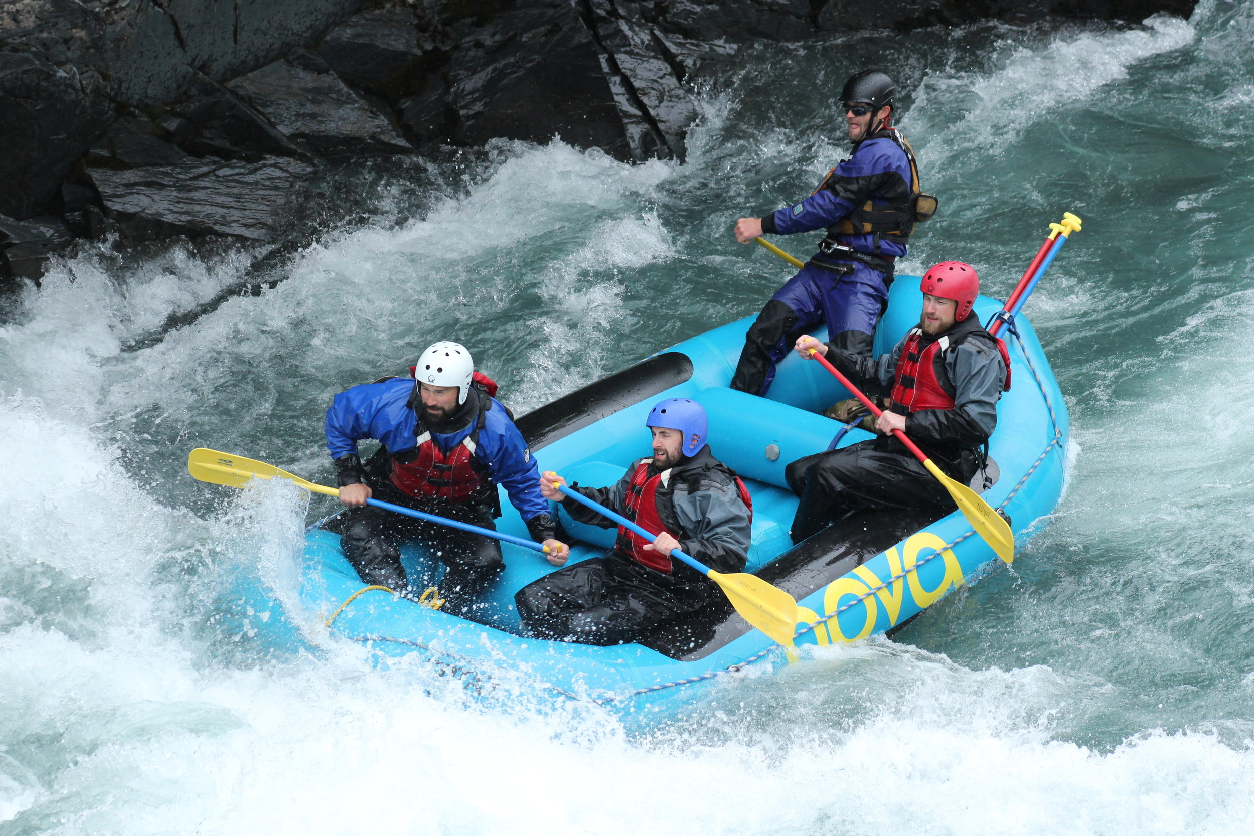 A whitewater rafting trip down Sixmile Creek near    Hope, AK    is a must-do excursion if you're up for it!