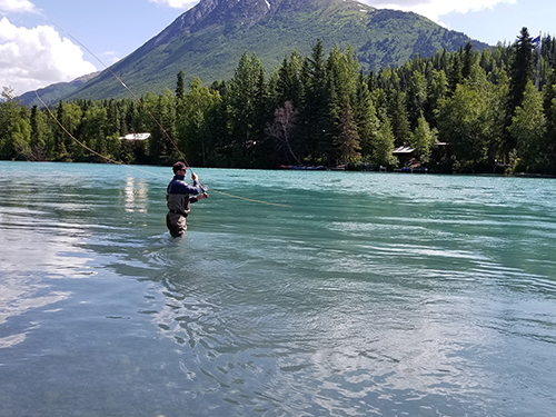 Swinging for trout and salmon on the Kenai River!