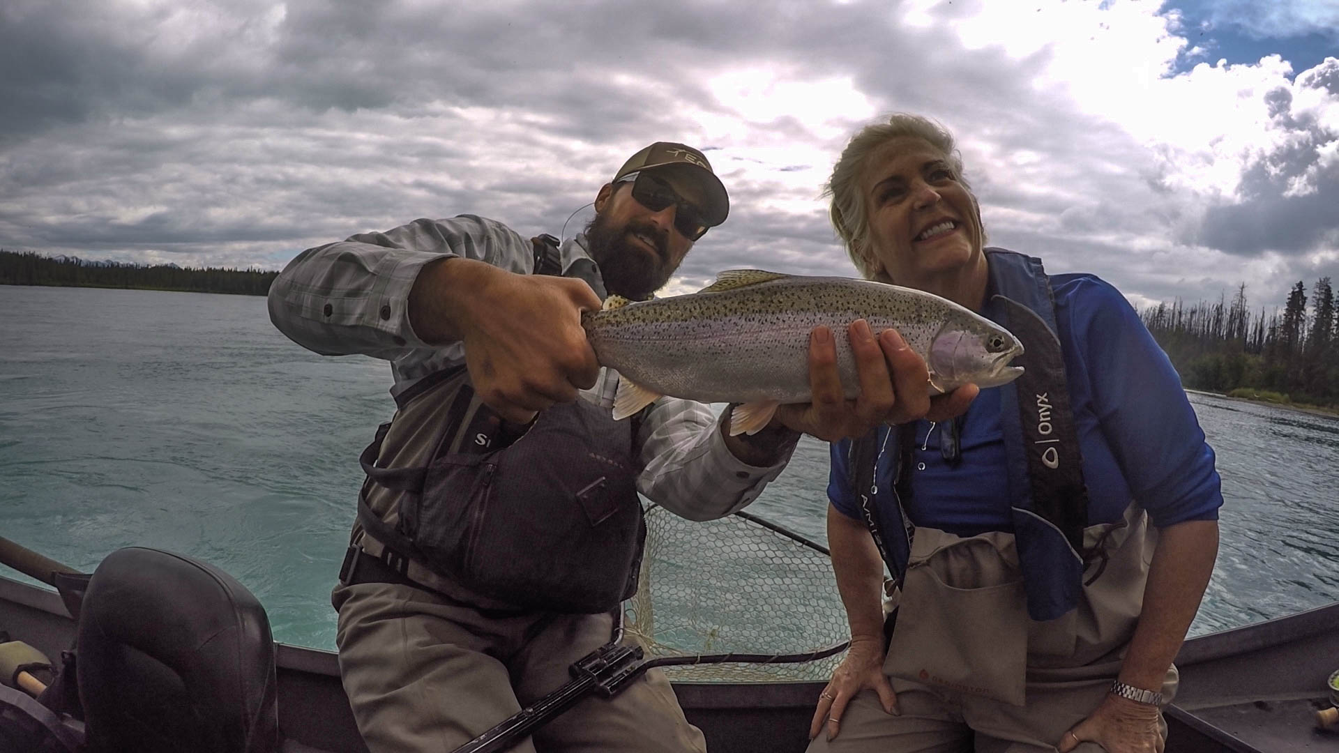 Early season trout action on the    middle Kenai   !