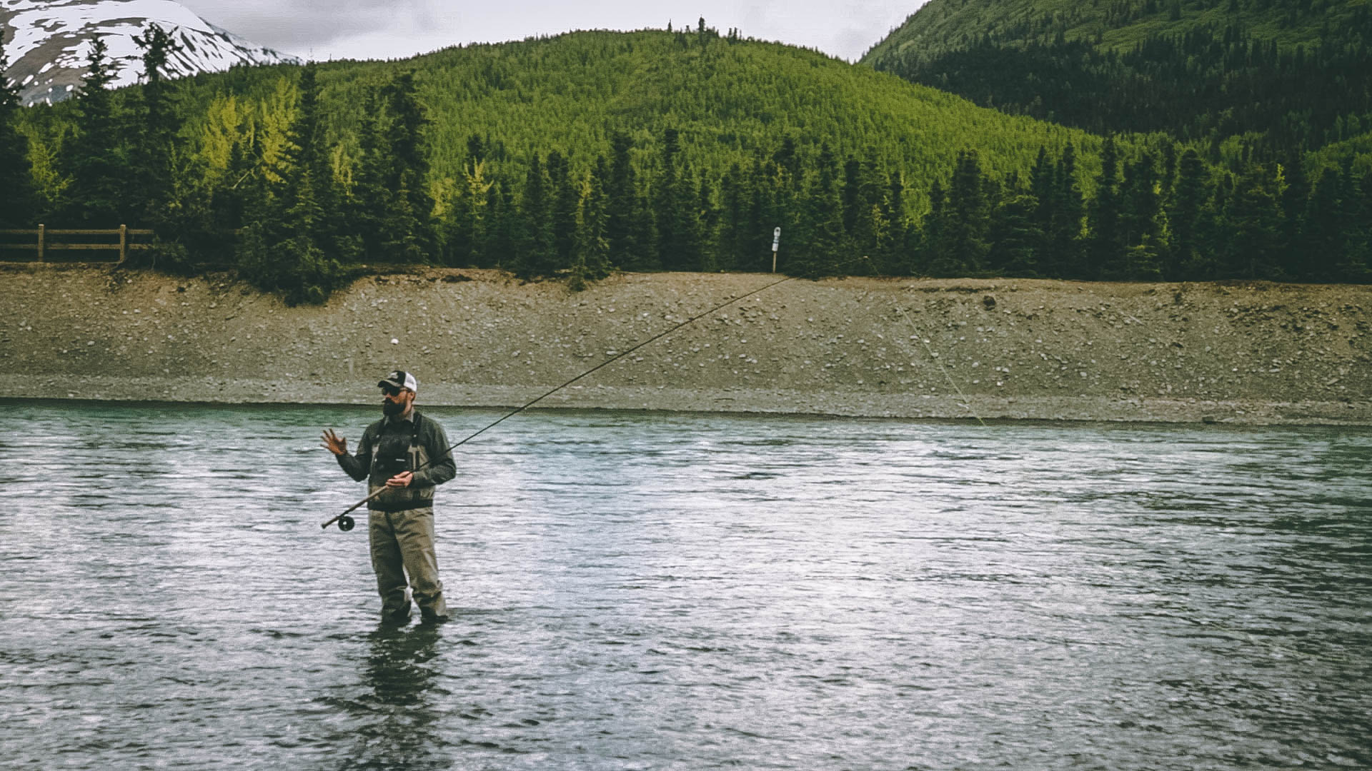 Dave    instructing at the 2019 Alaska Spey Clave!