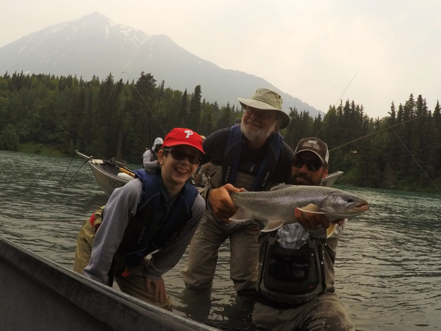 A giant upper    Kenai River       Dolly Varden   !