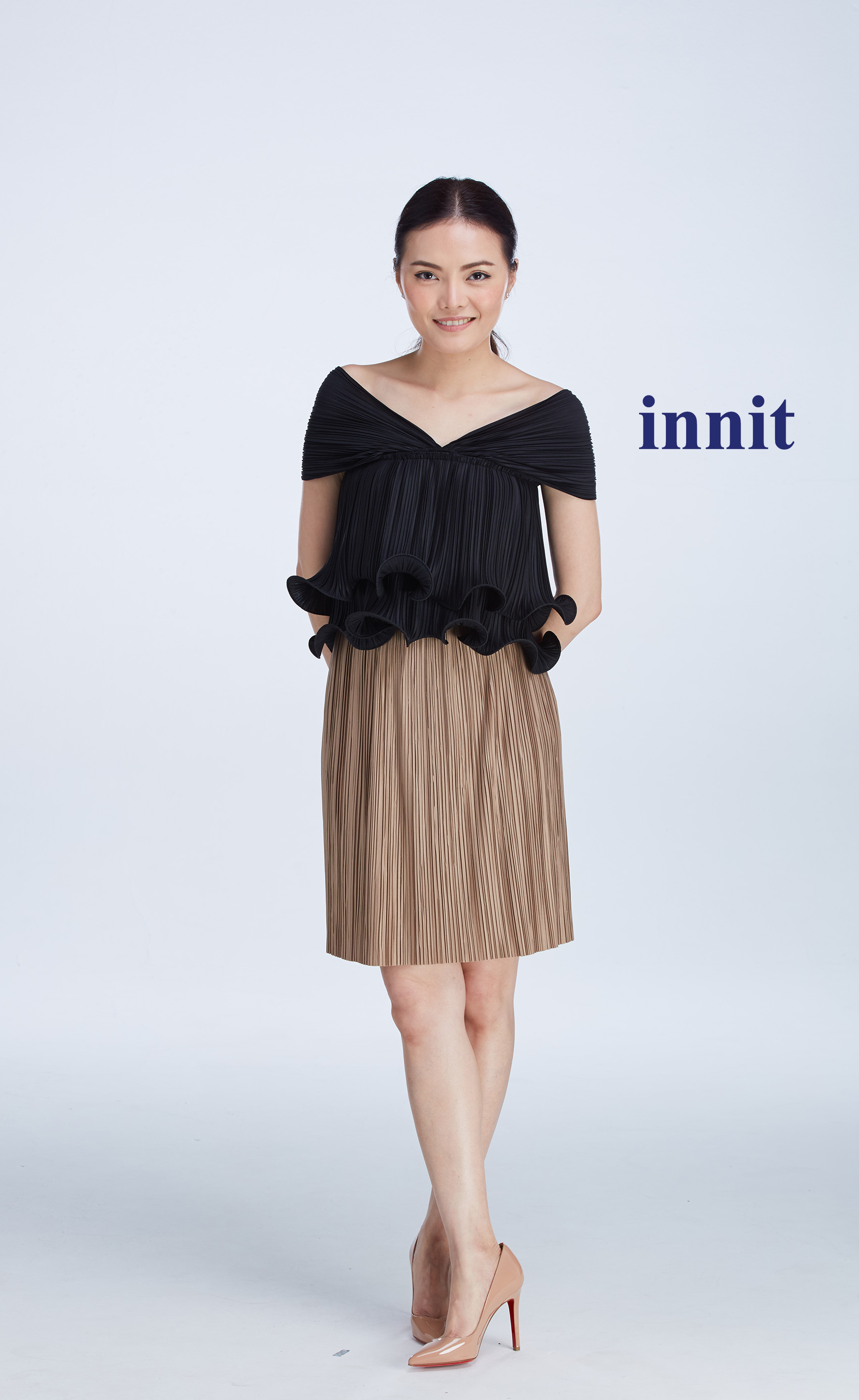 "LUNAR CROP TOP 11""   Pleated Skirt"