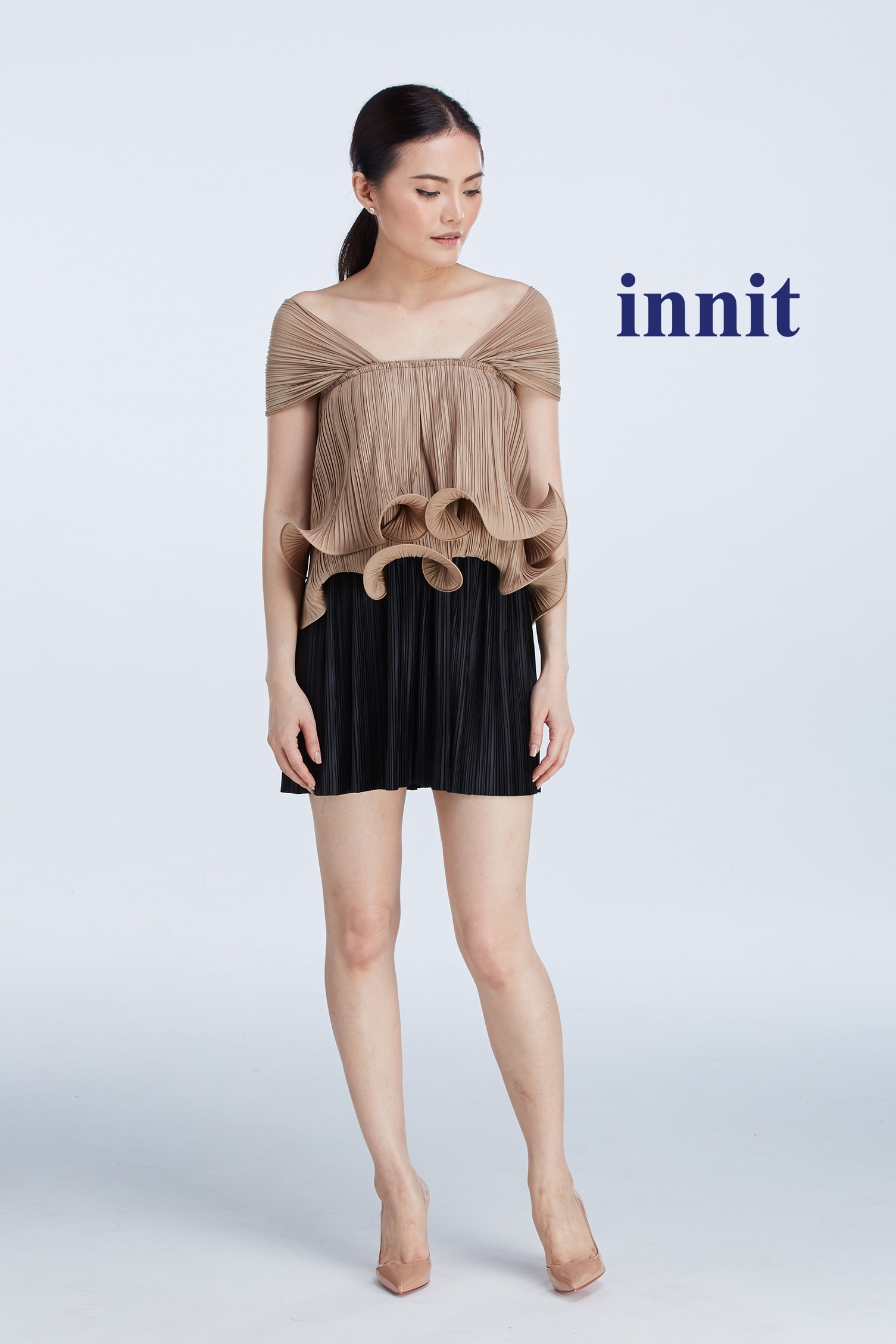 "LUNAR TOP 13""   Pleated Skirt"