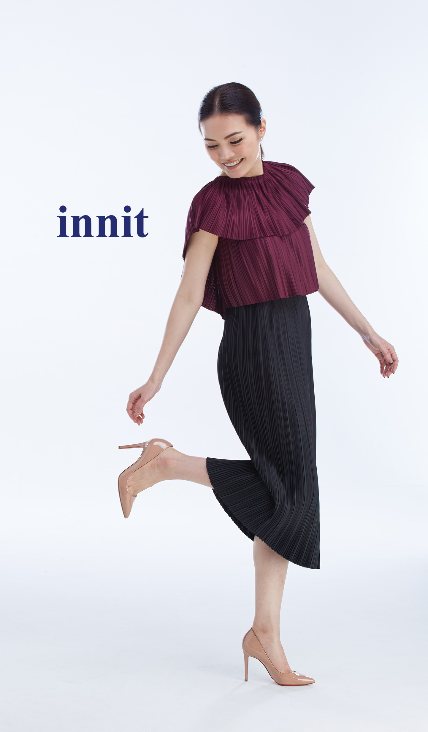 "CAMPARI TOP 16""   Pleated Skirt"