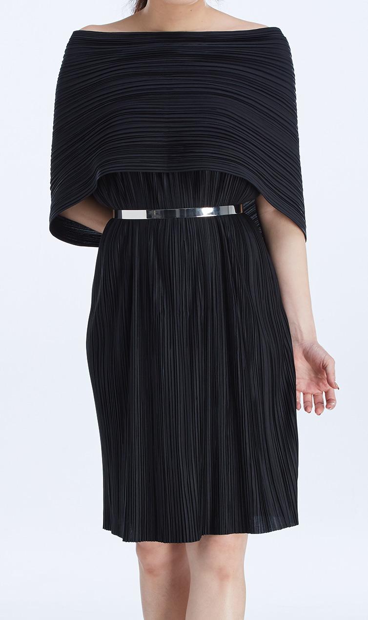 PLATE BELT (SILVER) worn with  OSCAR DRESS