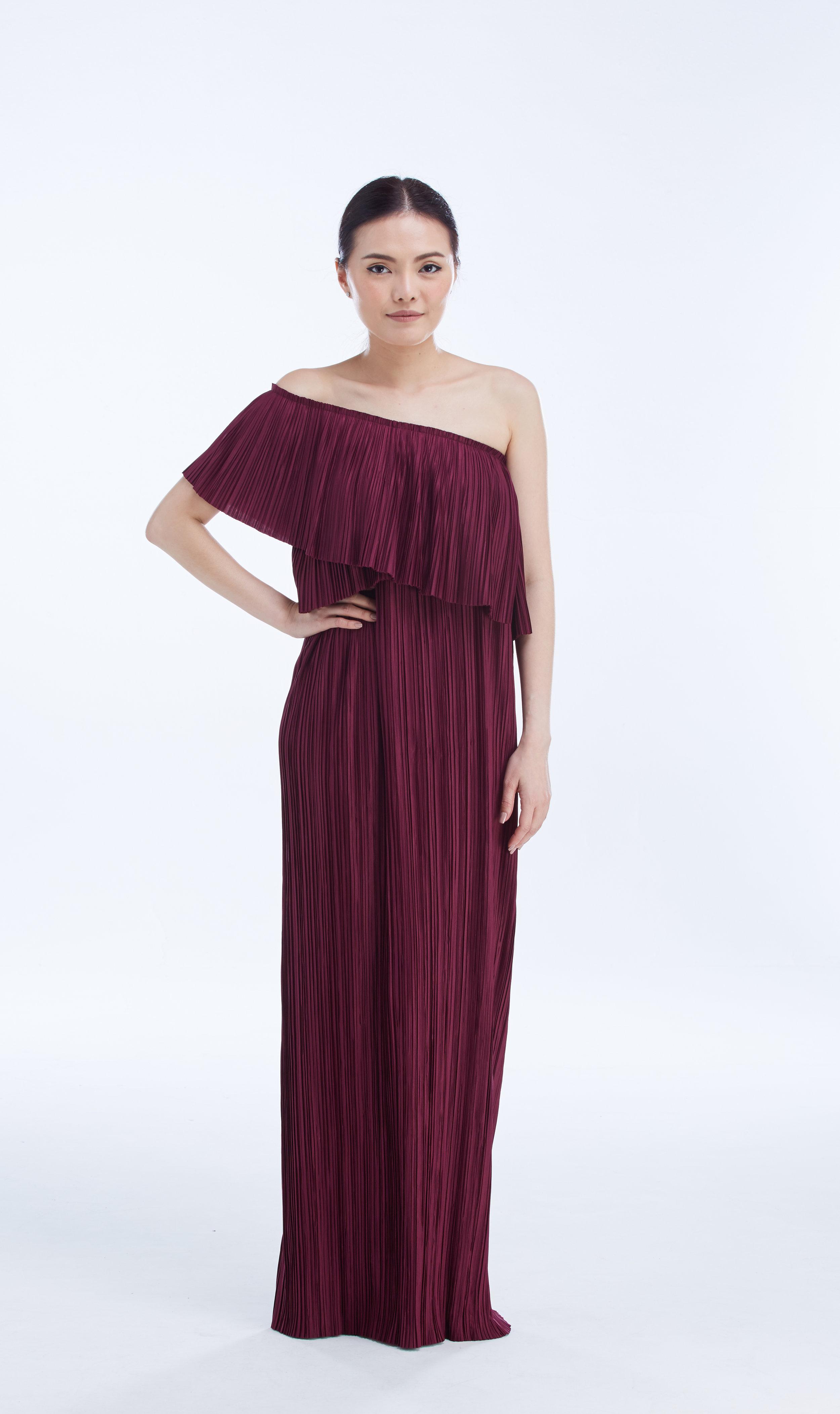 """CAMPARI DRESS 50"""" in Redwine"""