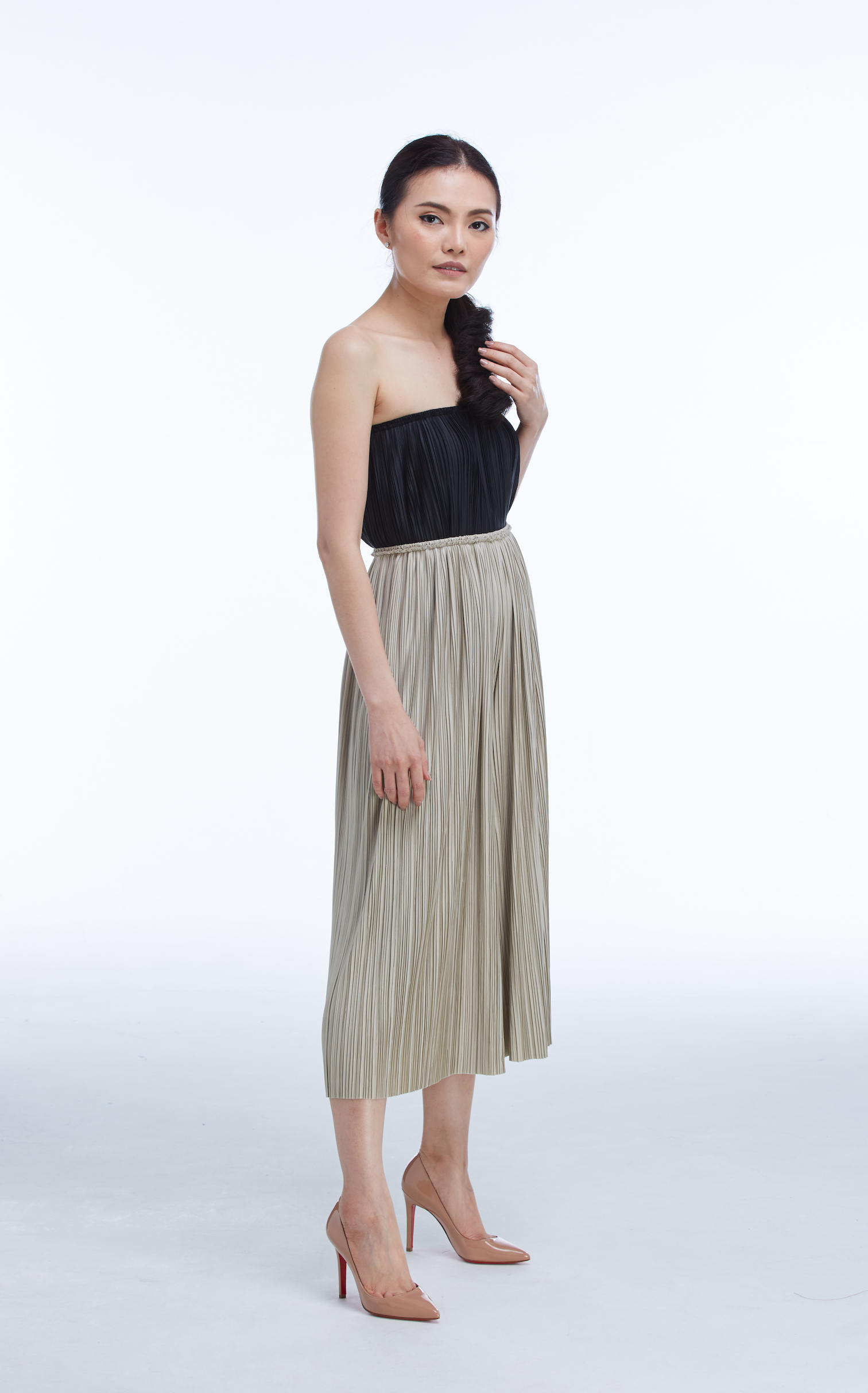 "PLEAT PANTS 30"" (MIDI)"